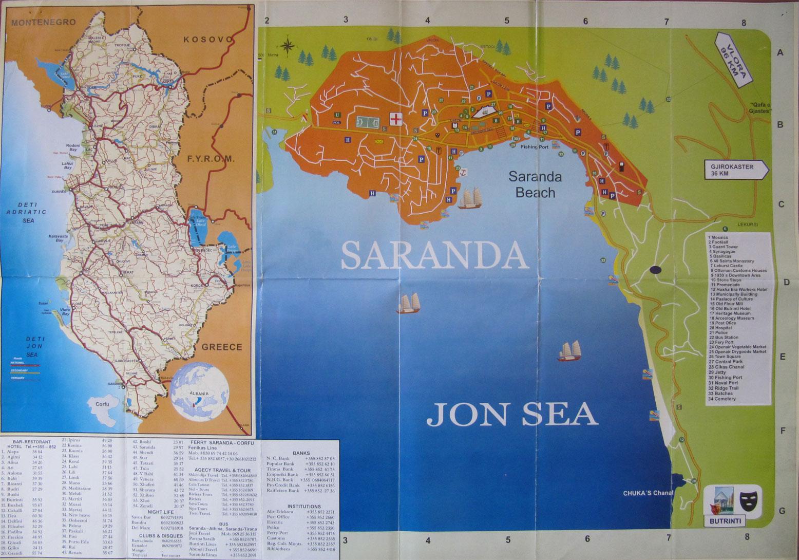 So kommen Sie nach Saranda